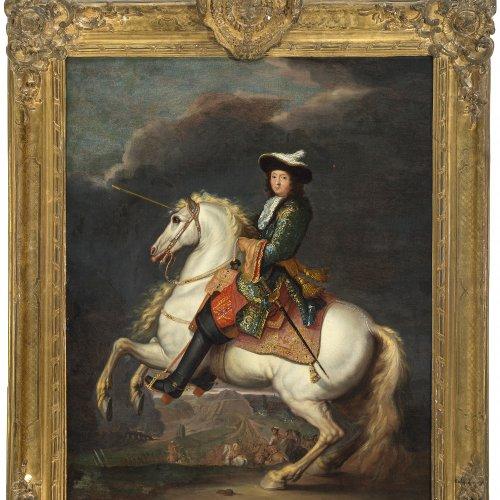 Meulen, Frans van der, nach. Ludwig XIV auf einem Schimmel. 69 x 54 cm. Öl/Lw.