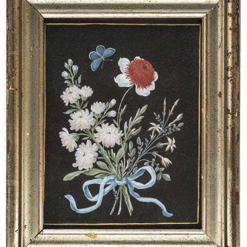 Dietzsch, Barbara, zugeschrieben. Blumenstrauß. Gouache. 15 x 11 cm.