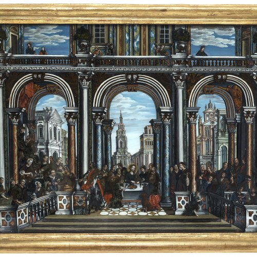Hinterglasbild, Gastmahl im Haus des Levi