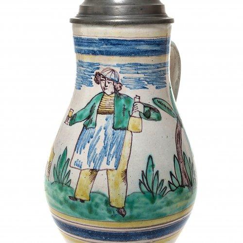 Birnkrug. Gmunden. Weintrinker. H. 27,5 cm.