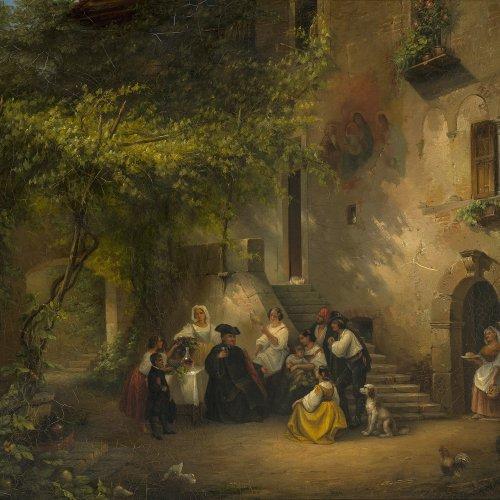 Petzl, Ferdinand, zugeschrieben Abendstimmung