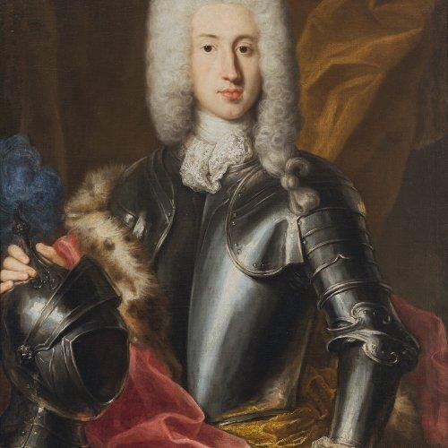 Frankreich, 17. Jh. Porträt eines Fürsten in Rüstung. Öl/Lw. 94 x 74 cm. Rest., doubl. Unsign.
