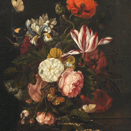 Oosterwyck, Maria von, Umkreis. Blumenstillleben. Öl/Lw. 61 x 47 cm. Besch. Unsign.