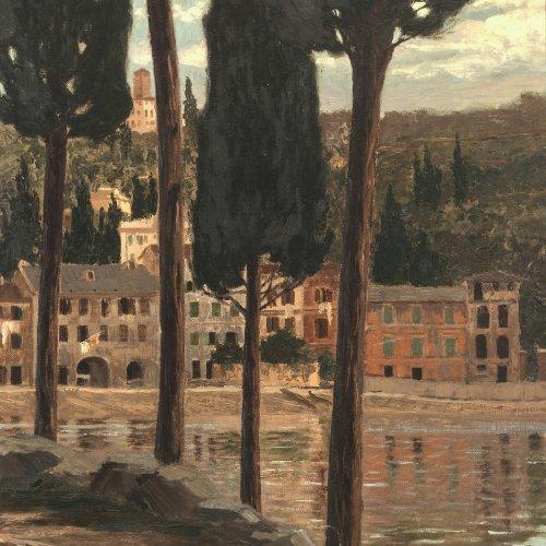 Cairati, Gerolamo. Toskana Landschaft. Öl/Lw. 59 x 48 cm. Sign., dat. 1907.