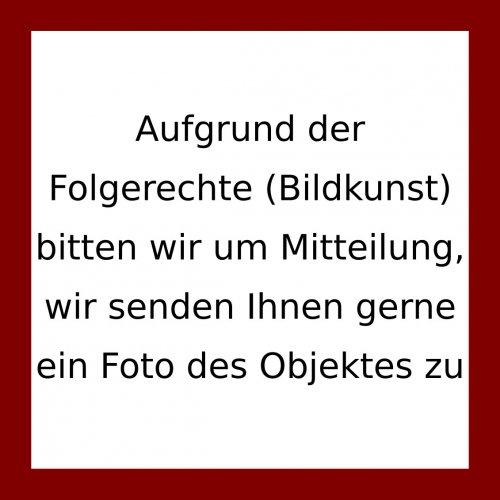 Koenig, Fritz. Gruppe. Kohlezeichnung auf bräunlichem Papier. 12,3 x 17,5 cm. Monogr. F.K.