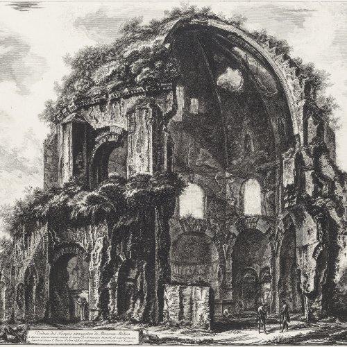 Piranesi, Giovanni Battista. Tempel der Minerva Medica. Kupferstich. 46,5 x 69,5 cm.
