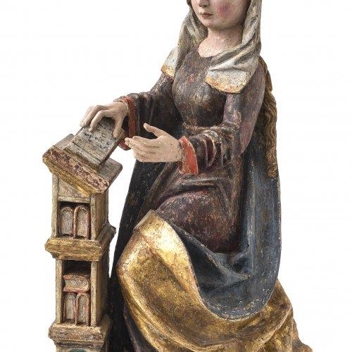 Maria. Süddeutsch, um 1500. H. 92,5 cm.
