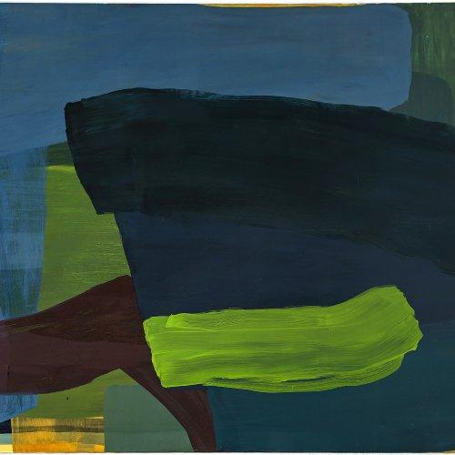 Assefjah, Mojé. Abstrakte Komposition. Öl/Lw. 200 x 280 cm. Rücks. sign., dat. 97.