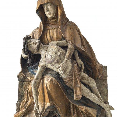 Pieta. Tirol, um 1490. H. 69,5 cm. Rest., besch.
