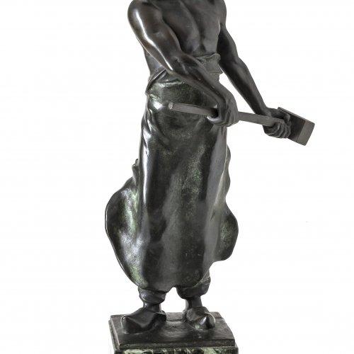 Iffland, Franz. Der Schmied. Bronze.
