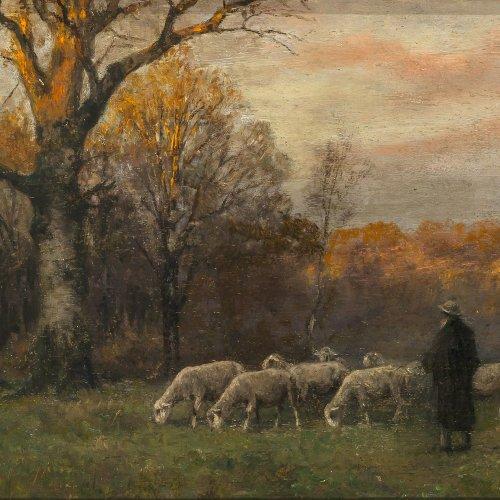 Splitgerber, August Schäfer mit Herde