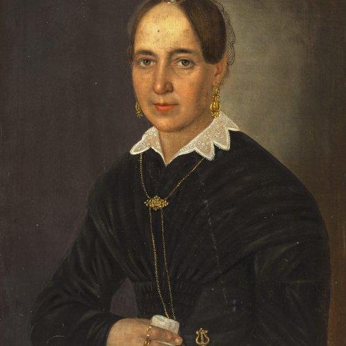 Zottmayr, Anton. Damenporträt. Öl/Lw. 61 x 50 cm.