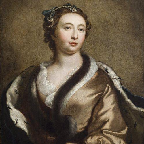 Dahl, Michael, zugeschrieben. Porträt der Elisabeth Petrowna. Öl/Lw. 78 x 64 cm. Doubl., rest. Unsign.