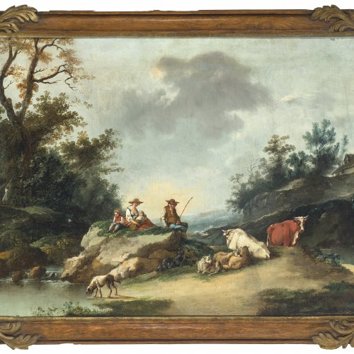Zuccarelli, Francesco, Umkreis, Pastorale Landschaft.