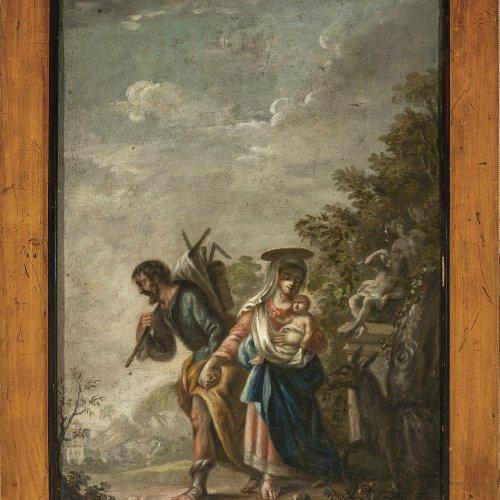 Scheits, Matthias, zugeschrieben, Flucht nach Ägypten, Öl/Lw. 49,6 x 34,7 cm