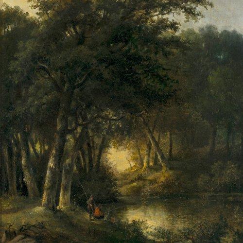 Sörensen, Jacobus Lorenz, waldige Landschaft.