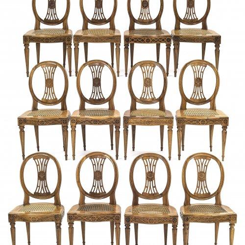Stühle, Satz von 12