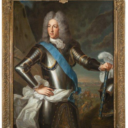 Belle, Alexis Simon. Porträt Louis IV. Henri de Bourbon, prince de Condé. öl/Lw. 133 x 100 cm. Unsign. Gutachten.