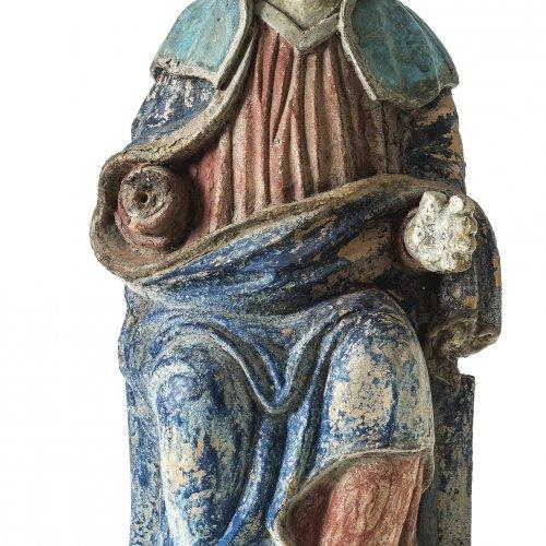 Gnadenmaria. Irdenware, farbig bemalt, Kröning