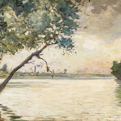 Luce, Maximilian, Seinelandschaft, Öl/Lw. 38 x 54,5 cm.