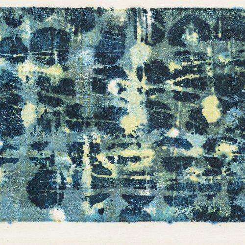 Hoshi, Joichi, Abstrakte Komposition in Türkisblau.