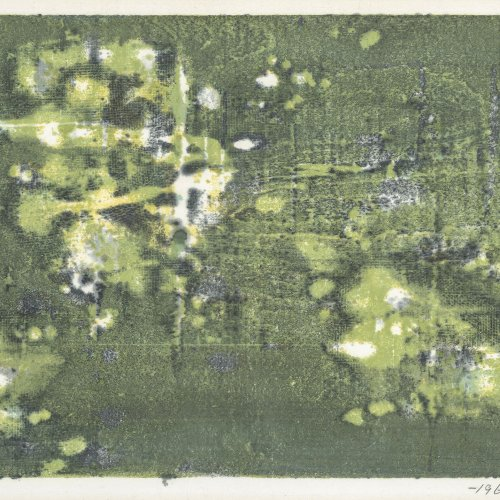 Hoshi, Joichi, Abstrakte Komposition in Grün.