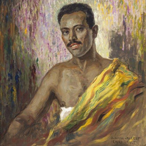 Kaan-Albest, Julius von, Ägypter, Öl/Lw. 79 x 74 cm.