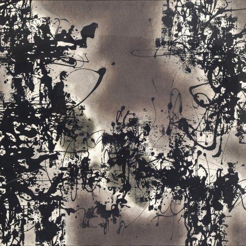 Fietz, Gerhard, Abstrakte Komposition, überarbeiteter Druck. Sign., dat. 56