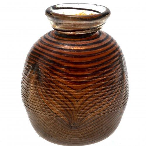 Eisch, Erwin, Vase, Streifendekor.