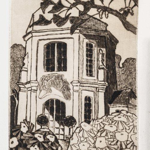 Kühlewein, Bernhard, Radierung, 20 x 12,5 cm.