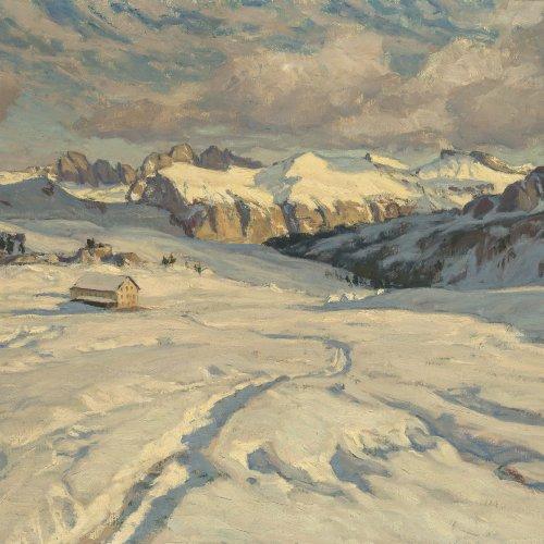 O´Lynch, Carl, Dolomitenlanschaft im Winter