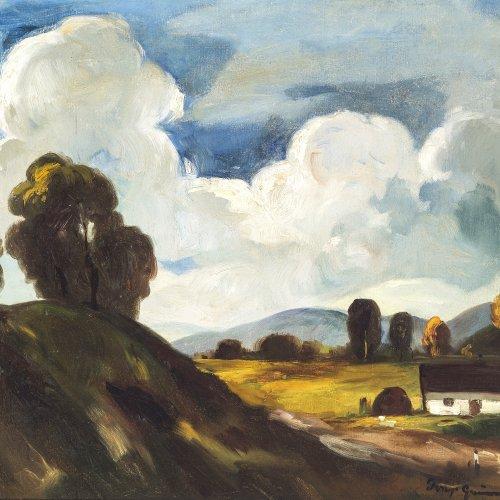 Grünwald, Béla I., Landschaft, Öl/Lw. 50 x 60 cm.