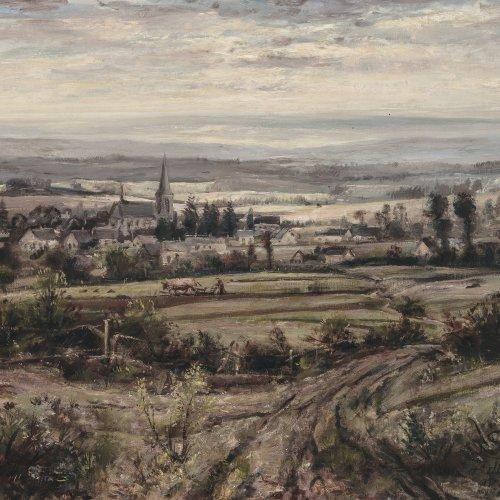 Steib, Josef, Ortschaft in hügeliger Landschaft