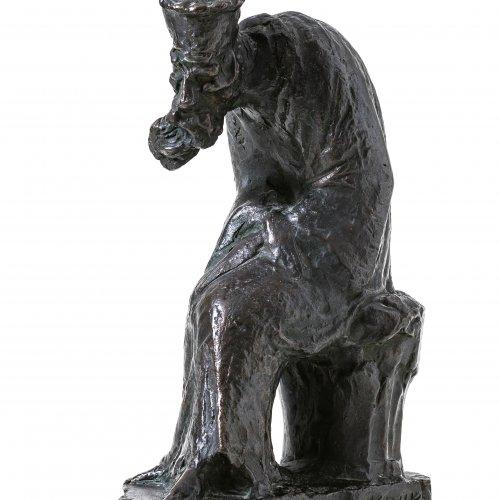 Kruk, Gregor, sitzender Mönche, Bronze, H. 27 cm.