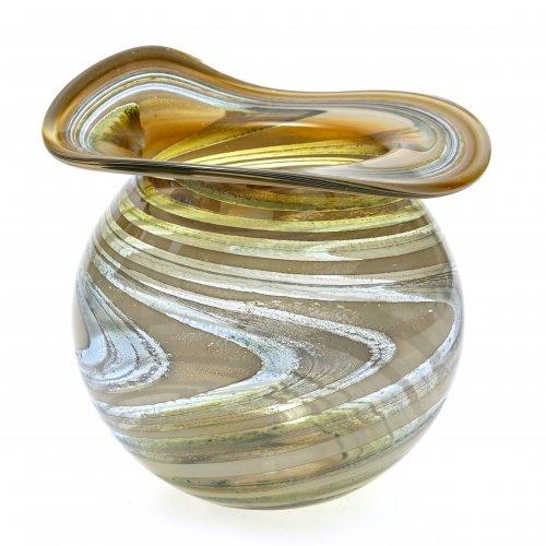 Vase, Eisch, dünnwandiges Glas.