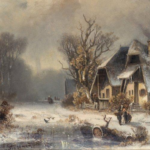 Stademann, Adolf, Winterlandschaft
