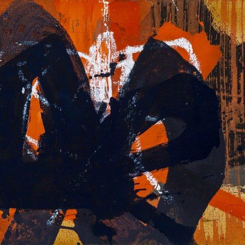 Werner, Anthony. Abstrakte Komposition. Acryl/Lw. 30 x 40 cm. WVZ M17. Sign., dat. 2000.