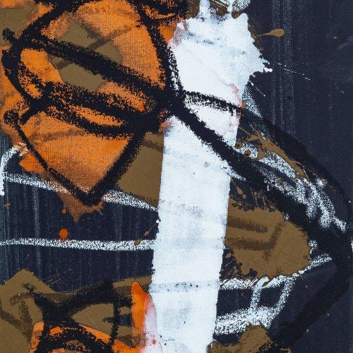 Werner, Anthony. Abstrakte Komposition. Acryl/Lw. 30 x 40 cm. WVZ M16. Sign., dat. 2000.