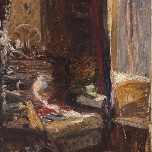 Breyer, Robert, Umkreis. Zimmerinterieur. 23 x 33,7 cm. Unles. sign.