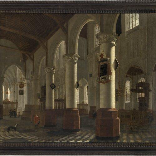 Vliet, Hendrik van. Oude Kerk in Delft. Öl/Lw. 66 x 78,5 cm.