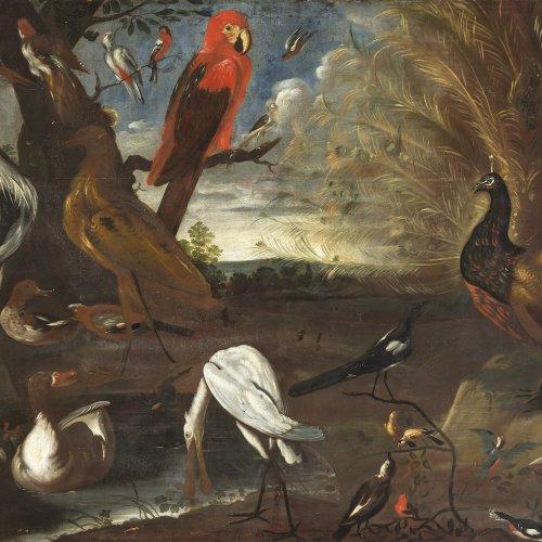 Snyders, Frans, Werkstatt, Konzert der Vögel, Öl/Lw. 134 x 208 cm.