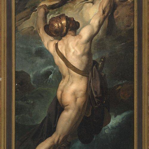 Italien, 19. Jh., Odysseus,  Öl/Lw. 77 x 52 cm.