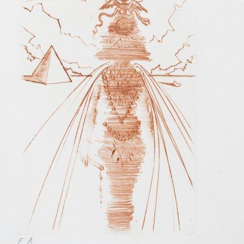 Dali, Salvador, Farbradierung, 17 x 12 cm.