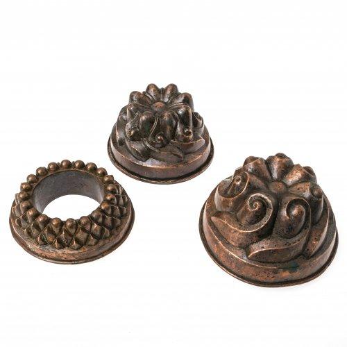 Drei Kupfermodel, verschieden.