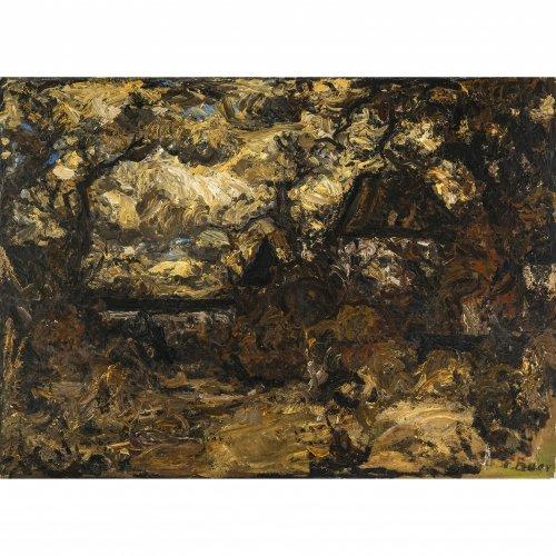 Baer, Fritz, Blutenburg, Öl/Lw. 77 x 107 cm. Doubl. Sign.