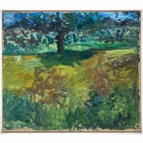 Kufner, Waldemar. Sommertag. Öl/Lw. 95 x 110 cm. Sign.