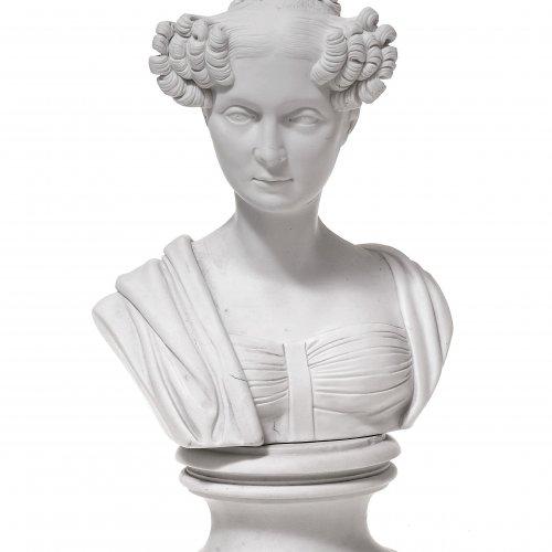 Porträtbüste Königin Therese von Bayern. Nymphenburg um 1808.