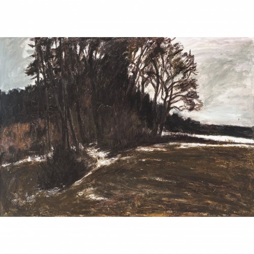 Fahrmüller, Josef. Schneeschmelze. Öl/Hartfaser. 66 x 92 cm. Sign.