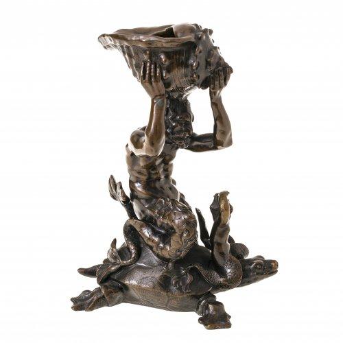 Tritongruppe, Bronze. Italien, 17. Jh. H. 16,5 cm.