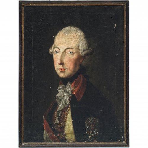 Österreich, 18. Jh. Porträt Kaiser Josephs II. Öl/Lw. 64 x 47,5 cm. Besch., rest. Unsign.